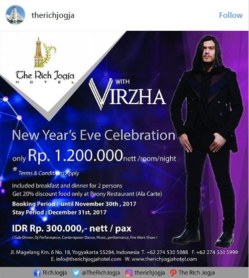 Paket Promo Hotel Untuk Merayakan Tahun Baru 2018 Lainnya Adalah New Years Eve Celebration Di The Rich Jogja Yang Satu Ini Termasuk