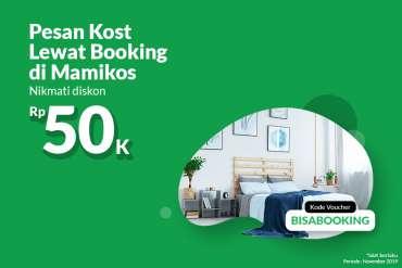 Kode Voucher Kost Booking Oktober – November 2019