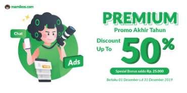 DISKON Akhir Tahun s.d 50%, Premium Sekarang!