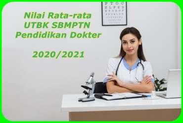 Nilai Rata-rata UTBK SBMPTN untuk Pendidikan Dokter di 10 PTN 2020/2021