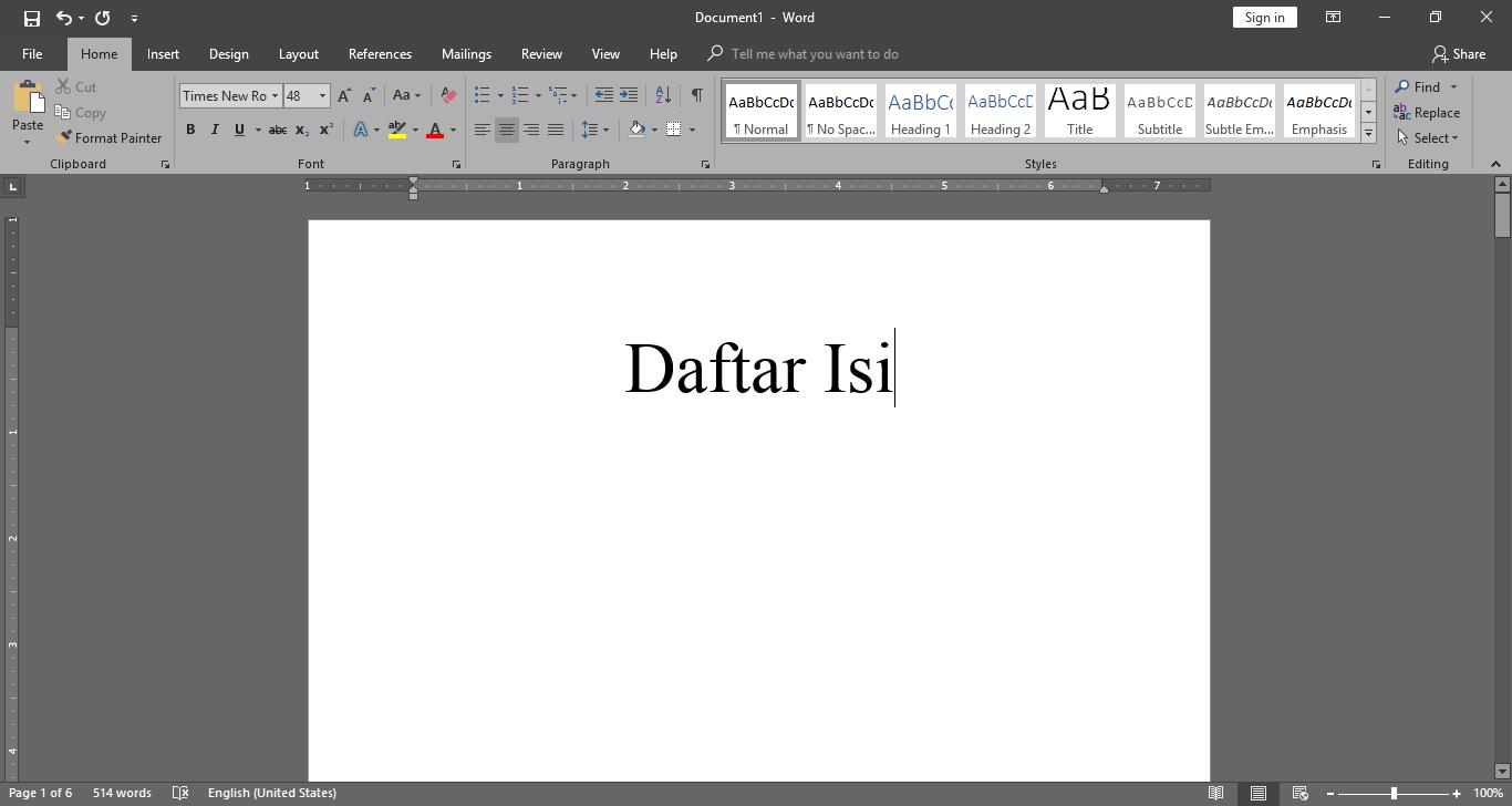 Cara Membuat Daftar Isi Otomatis Di Word 2010, 2013, 2007 Terbaru