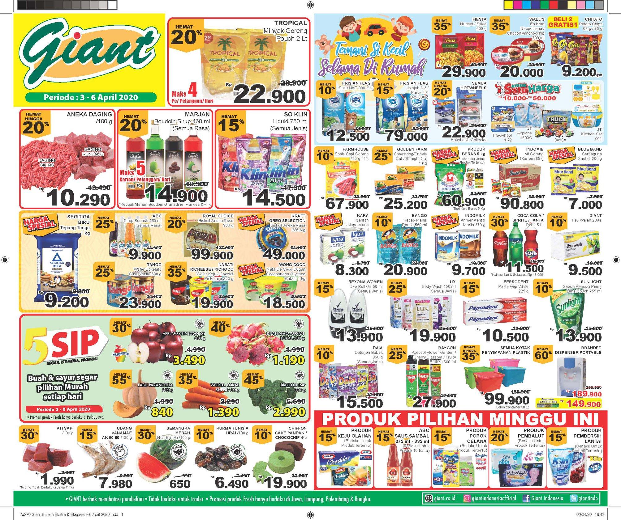 Promo April 2020 Super Indo Jsm Giant Dan Hypermart Berbagai Area Mamikos Info
