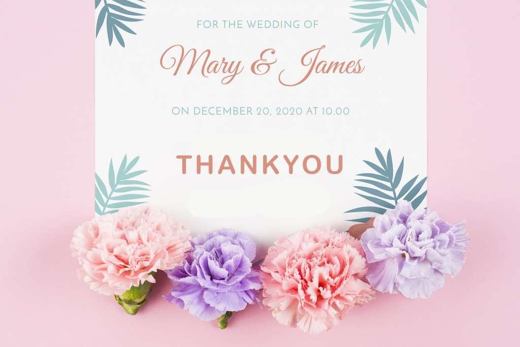 18 Kartu Souvenir Ucapan Terimakasih Pernikahan Bisa Download