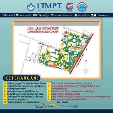 Peta Denah Lokasi Tes UTBK-SBMPTN 2020 di ISI Yogyakarta, Lihat di Sini